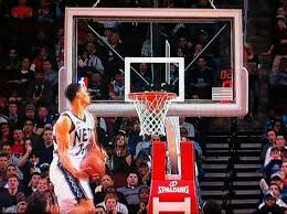 Gerald Green head above rim alley oop. In my opinion best dunk ever. https://youtu.be/ThtXbKjfZd4