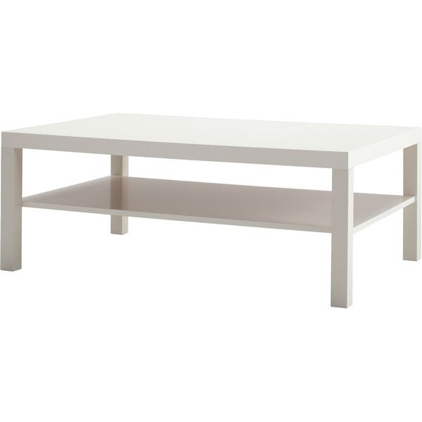 IKEA LACK Coffee table, white ($40) ❤ liked on Polyvore featuring home, furniture, tables, accent tables, coffee table, ikea, white furniture, white table, white coffee table and white accent table