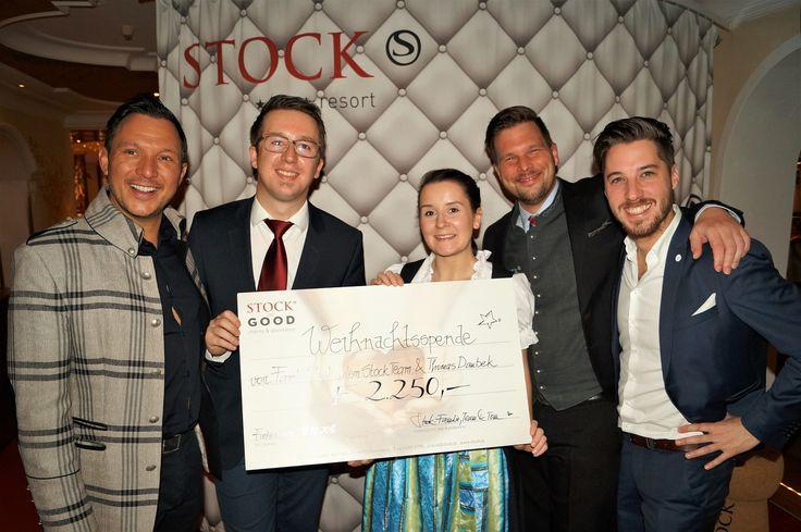 "STOCK TEAM CHRISTMAS PRESENT to Charity ""STOCK FOR GOOD"" - € 2.250,- #begood @st"
