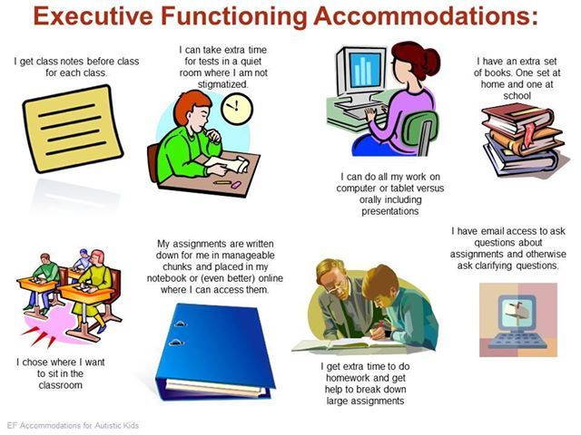 Executive functioning strategies for autism