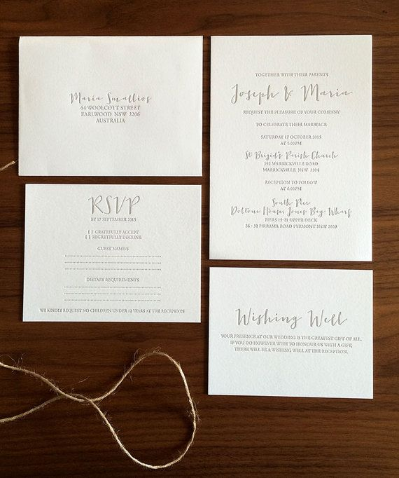 Hey, I found this really awesome Etsy listing at https://www.etsy.com/au/listing/244748816/maria-letterpress-wedding-invitation