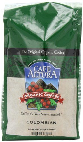 Cafe Altura Organic Coffee, Colombian, 32-Ounce Bag - http://www.teacoffeestore.com/cafe-altura-organic-coffee-colombian-32-ounce-bag/