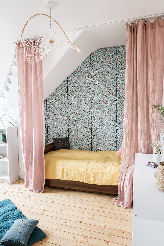 chambre fille papier peint chambre