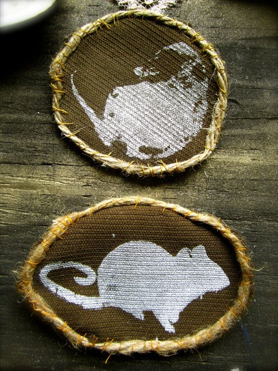 Rat/Possum badge patches by DreampipeCollective on Etsy