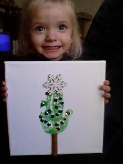 Kids craft - DIY Christmas tree
