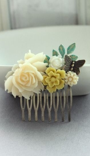 vintage inspired clip! love. DIY for my Bridesmaids? I think yes!