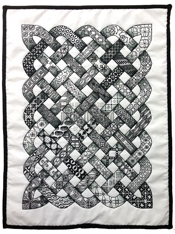 Zentangle inspired quilt (A3 size) by Neil Burley...I will ABSOLUTELY make one like this!