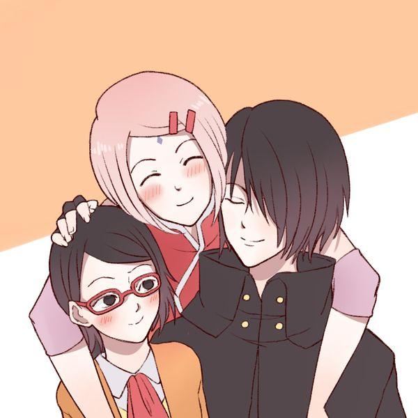 Sasuke, Sakura And Sarada