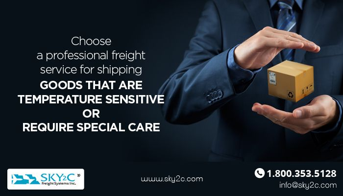 For domestic shipments which are temperature sensitive or require special care, it is recommended to choose a professional freight service for shipping. Contact Sky2C today.