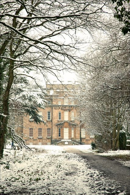 Kings Weston House, Bristol, in the snow. Click on reference for more photos & story on how community it active with house & park.