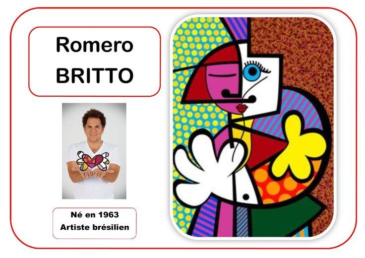Romero Britto - Portrait d'artiste en MS  Blogs con propuestas artísticas