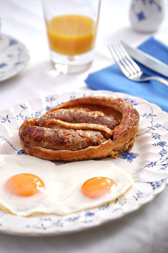 ... Toad in the Hole with Maple Syrup. #toad_in_the_hole #breakfast #