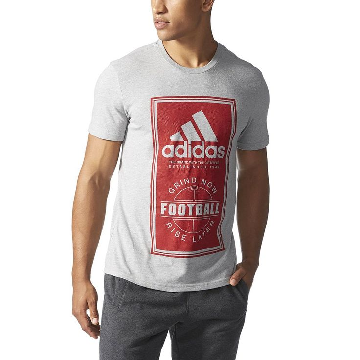 Big & Tall Adidas Football Performance Tee, Men's, Size: Xl Tall, Med Grey