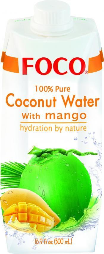 Woda kokosowa z mango (500 ml) - FOCO