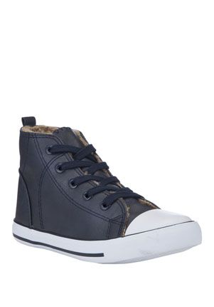 F&F Teddy Lined High Top Trainers