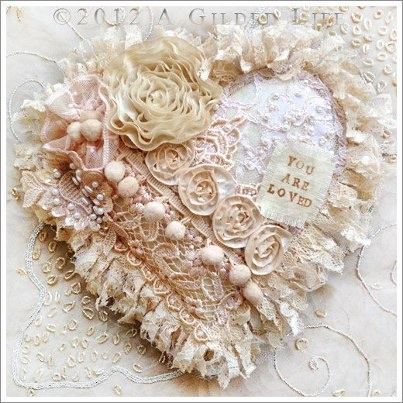 beautiful embellished heart....too much???