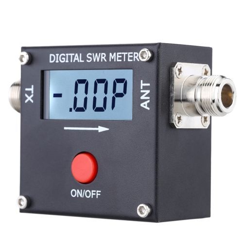 Mini Digital LCD SWR Standing Wave Ratio Watt Power Meter for HAM Mobile VHF UHF 120W
