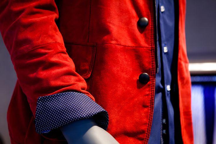 Super Stylish Red Suede Jacket!                 www.zedmenswear.co.za