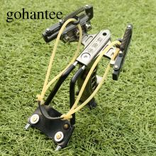 Gohantee Tactical Heavy Duty de Acero Inoxidable Slingshot con 4 Primavera Muñeca Brace Sling Disparos Al Aire Libre Caza Tirachinas de Catapulta(China)