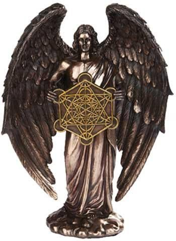 In the hierarchy of heaven, archangels are some of the most important and most powerful of angels. Each possesses a unique role and a unique name. This Bronze Archangel Metatron Statue depicts the ang