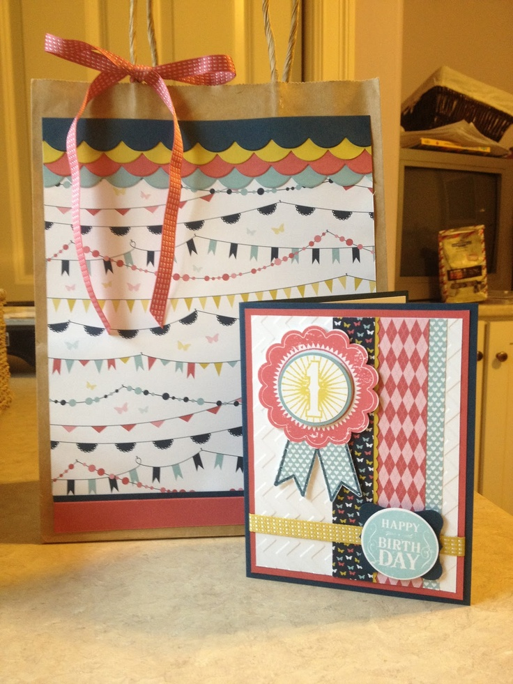 Stampin' Up! Gift Bag by Catherine Loves Stamps: Blue Ribbon Birthday