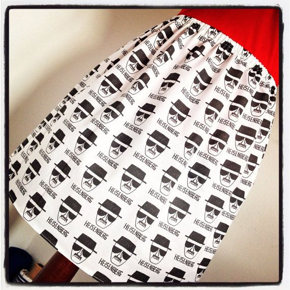 I am not in danger. I am the danger.  Breaking Bad Mini Skirt  Black and White by sweetcheeksstitches, £28.00