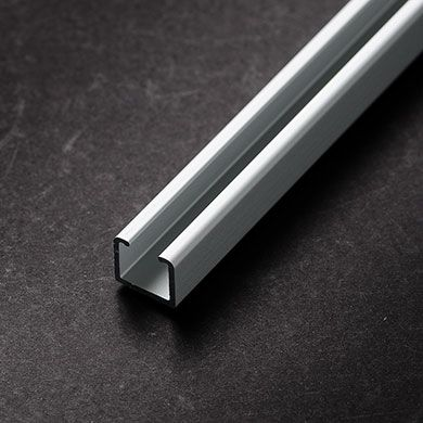 Ceiling Mount Curtain Track is an anodized aluminum, hand-draw curtain track that can be directly mounted to a ceiling. Use standard fasteners to ceiling mount or the track can be recessed.