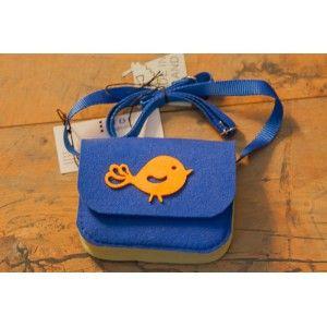 Etoi Design - niebieska torebka z ptaszkiem