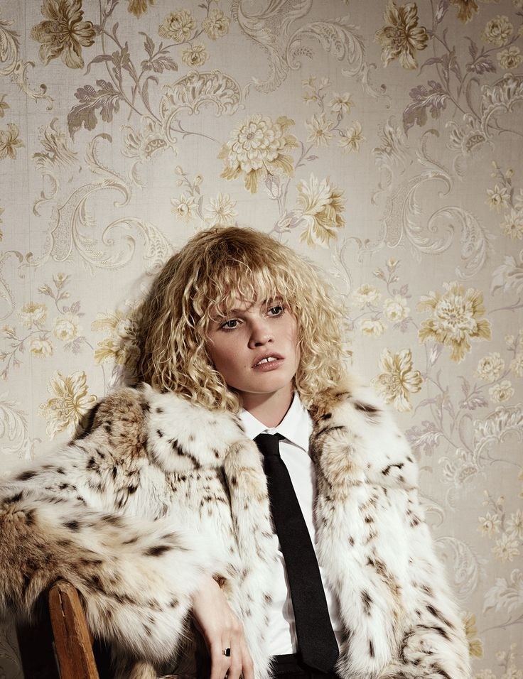 Tie One On - Lara Stone photographed by Willy Vanderperre, styled by Melanie Ward; W Magazine September 2014