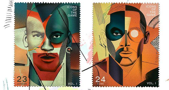 Diseño de sellos personalizados con los cracks de la NBA