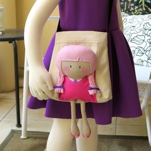 Carry-Me Messenger Bag and doll from Cook You Some Noodles