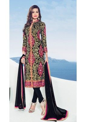 Festival Wear Multicolour Georgette Salwar Suit - 1537