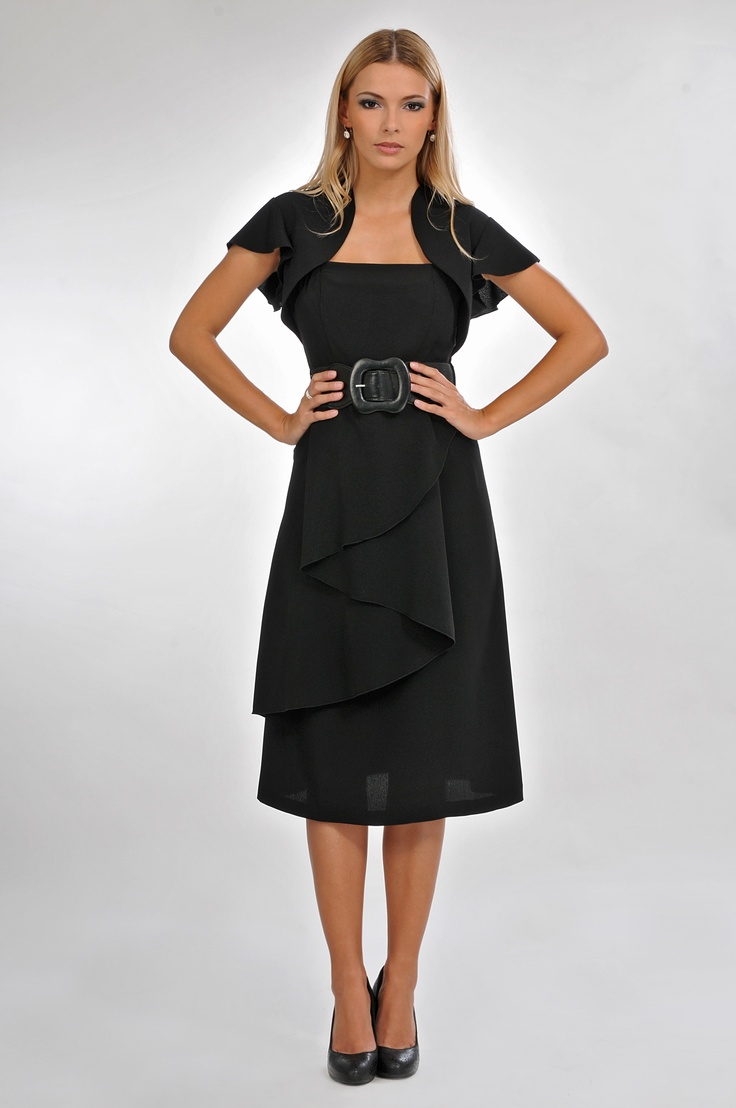 black dress with belt  #bellamode
