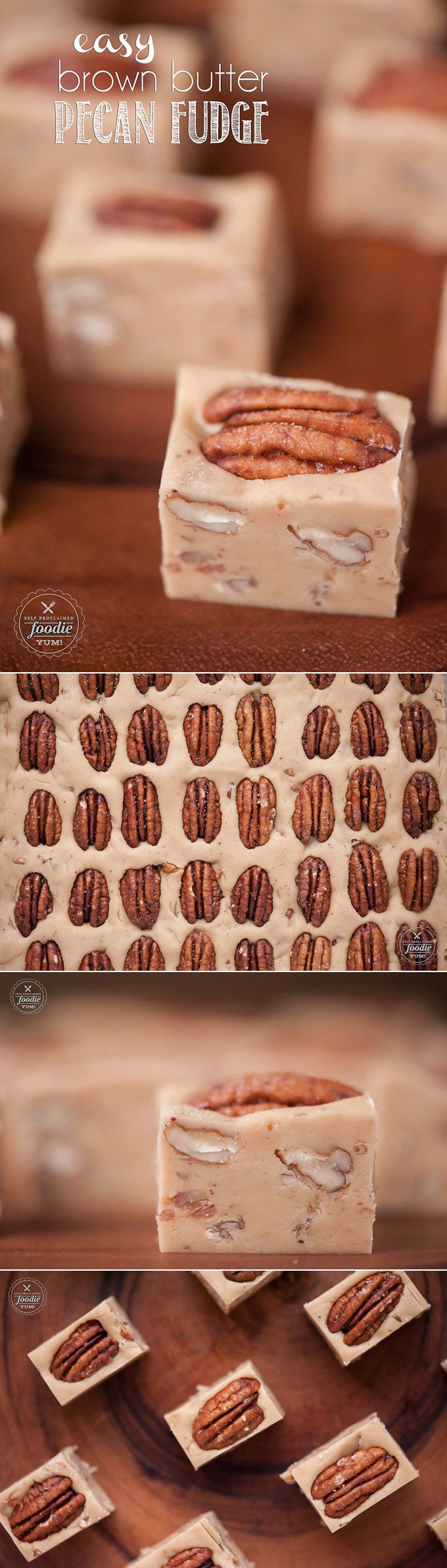 This Easy Brown Butter Pecan Fudge is full of the flavors of candied pecans and buttery caramel. This easy to make candy is the perfect dessert treat.