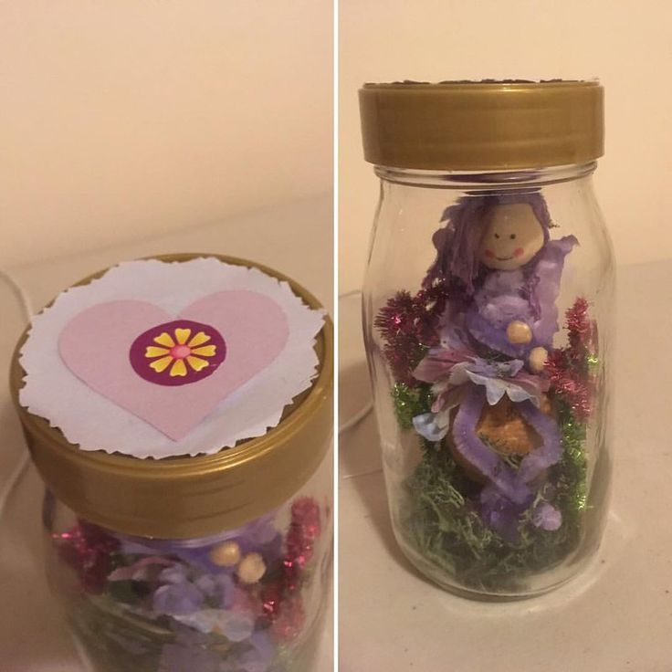 Captured Fairy Jar for Elizabeth by Pixie-Wildflower.deviantart.com on @DeviantArt