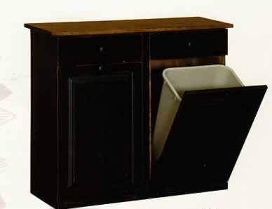 17 Best Images About Primitive Trash Can Storage On