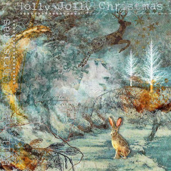 HOLLY JOLLY CHRISTMAS  Kits: The night before Christmas, Enchantment, winter blue overlays, Damaged people, Enchanted Christmas, Lighsabers & Savannah