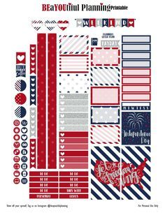 4th of July – Free Printable – BEaYOUtiful Planning