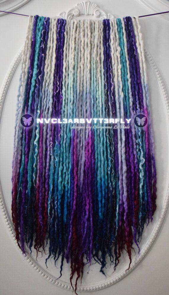 Wool Silk Mohair & Flax Dreads  42DE Frozen by NVCL3ARBVTT3RFLY