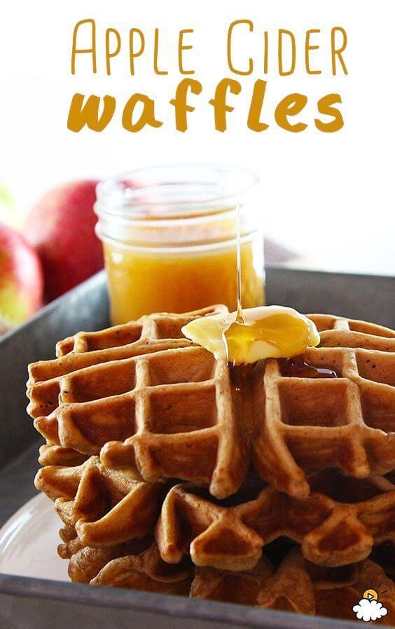 cool Apple Cider Waffles