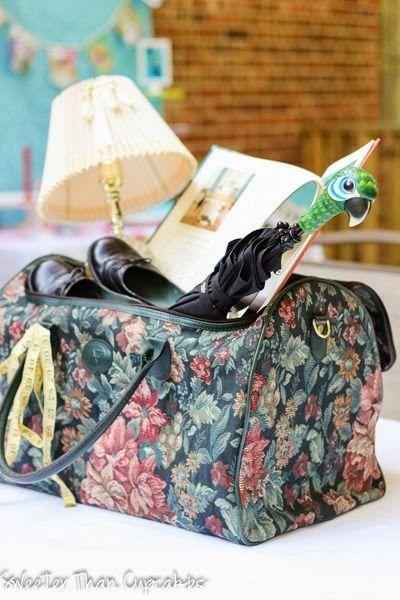 Mary Poppins Carpet Bag Centerpiece