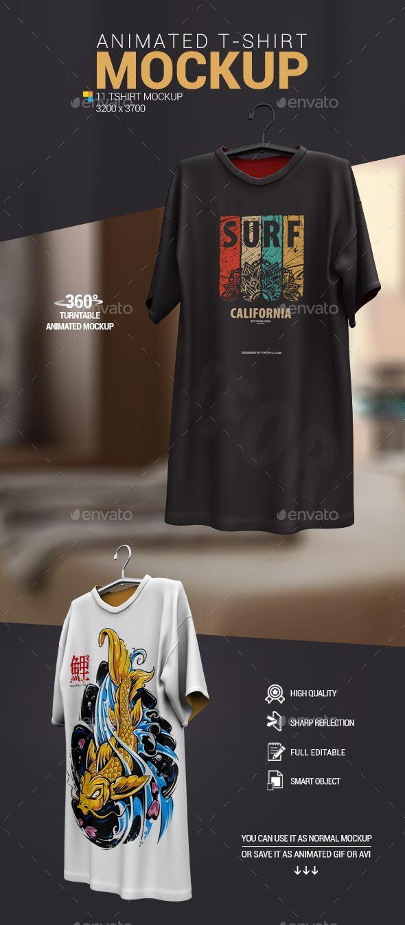 Download Animated T Shirt Mockup Shirt Mockup Tshirt Mockup Clothing Mockup