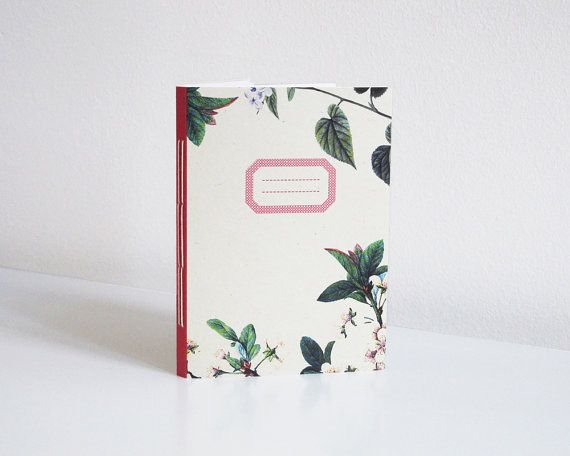 Floral notebook  A6 by 10antemeridiem on Etsy, $12.00