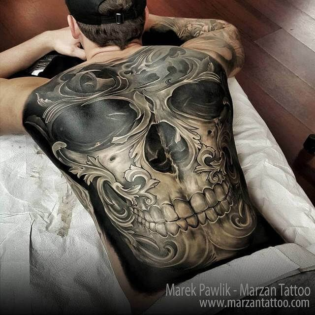 60 black and grey skull tattoos tattoos pinterest. Black Bedroom Furniture Sets. Home Design Ideas
