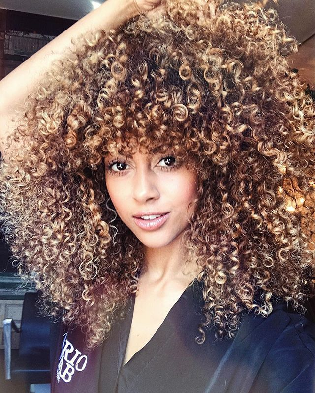 Marvelous The 25 Best Ideas About Highlights Curly Hair On Pinterest Short Hairstyles For Black Women Fulllsitofus