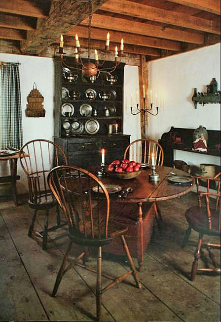 FARMHOUSE INTERIOR Note How The Doors Windows And Trim Were Painted In Colonial Era While Walls Remained A Plaster Color