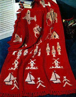 ⛵ Afegão Crochetar Marinheiros Padrão Barcos da Criança 5091 -  /  ⛵ Childs Afghan Crochet Default Sailors Boats 5091 -