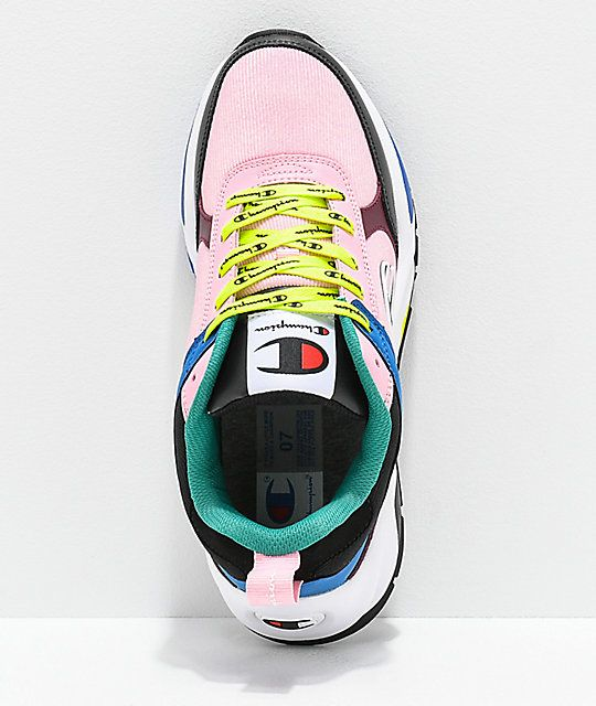 3bff547824470 Champion 93 Eighteen Big C Pink   Multi-Colorblock Shoes in 2019 ...