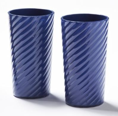 How fun are these swirl highball glasses! Available in blue, green and white, and perfect for serving a summer drink!
