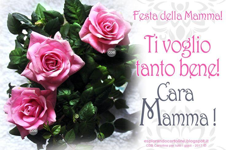 CDB CARTOLINE Compleanno per Tutti i Gusti! : ♡ Cartolina - Festa della Mamma. Ti voglio tanto b...